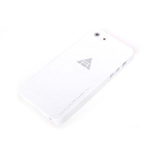 Пластиковый чехол ROCK New Naked белый для iPhone 5/5S/SE