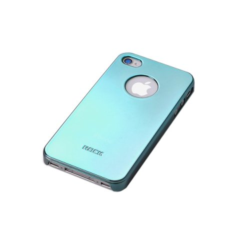 Чехол-накладка для Apple iPhone 4/4S - ROCK New Ti Shell синий
