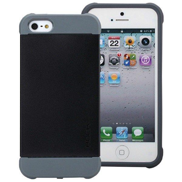 Пластиковый чехол ROCK Shield черный для iPhone 5C