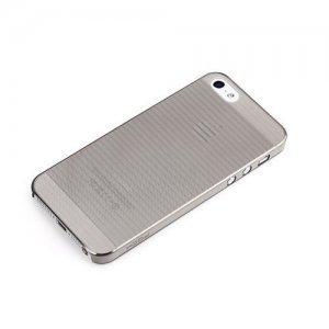 Пластиковый чехол ROCK Texture черный для iPhone 5/5S/SE