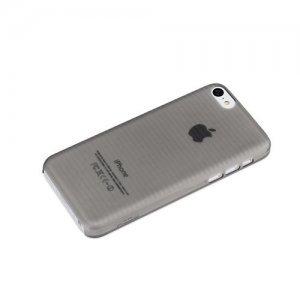 Полупрозрачный чехол ROCK Texture черный для iPhone 5C