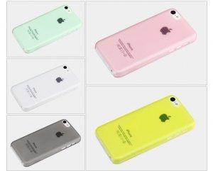 Полупрозрачный чехол ROCK Texture зеленый для iPhone 5C