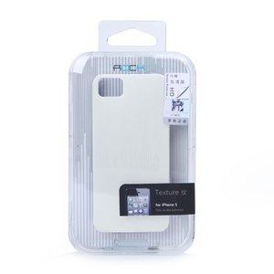 Пластиковый чехол ROCK Texture белый для iPhone 5/5S/SE