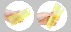 Полупрозрачный чехол ROCK Texture желтый для iPhone 5C