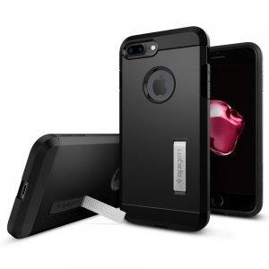 Защитный чехол с подставкой Spigen Tough Armor чёрный для iPhone 8 Plus/7 Plus