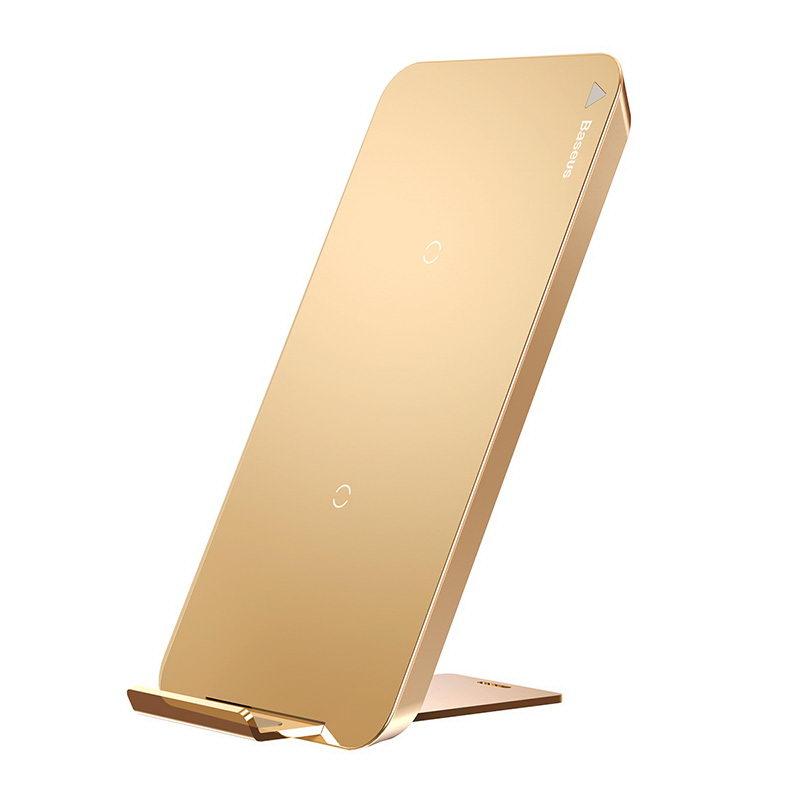 Беспроводное зарядное устройство Baseus золотое