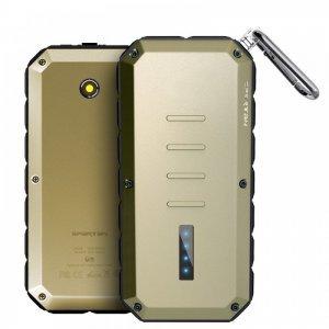 Внешний аккумулятор IWALK Extreme Spartan 13000 mAh, 2 USB, 2.4A/1.0A желтый