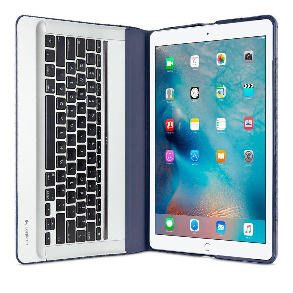 "Чехол-клавиатура для Apple iPad Pro 12,9"" - Logitech Backlit синий"
