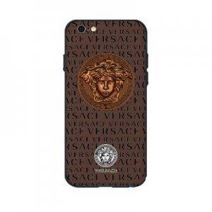 Чехол с рисунком WK Versace коричневый для iPhone 6/6S