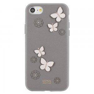 Кожаный чехол Luna Aristo Dale серый для iPhone 7/8