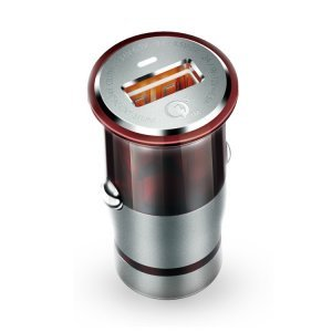Автомобильное зарядное устройство H'MASTON Pro Car Charger H304Q QC3.0 серый + красный