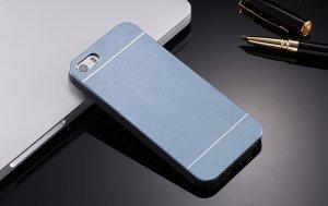 Металлический чехол Motomo серый для iPhone 4/4S