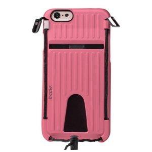 Чехол-накладка для Apple iPhone 6/6S - iBacks Travelling розовый