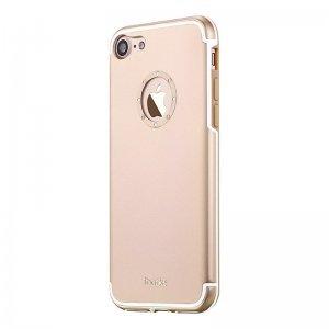 Чехол со стразами iBacks Diamond Ring золотой для iPhone 8/7