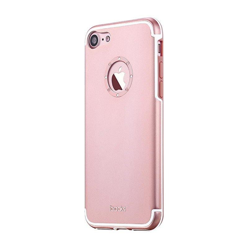 Чехол со стразами iBacks Diamond Ring розовое золото для iPhone 8/7/SE 2020