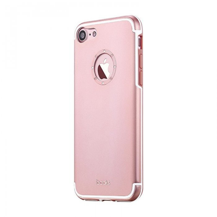 Чехол со стразами iBacks Diamond Cartier розовое золото для iPhone 7 Plus