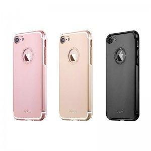 Чехол со стразами iBacks Diamond Ring чёрный для iPhone 8/7
