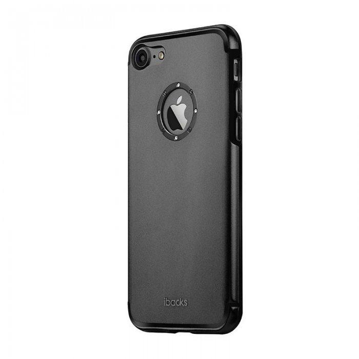 Чехол со стразами iBacks Diamond Ring чёрный для iPhone 8/7/SE 2020
