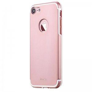 Защитный чехол iBacks Essence Aluminum розовое золото для iPhone 7 Plus