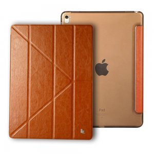 "Чехол-книжка для iPad Pro 12.9"" - Jisoncase Folio коричневый"