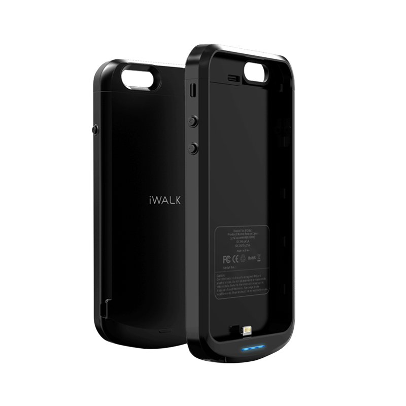 Чехол-аккумулятор iWalk Chameleon Lite 2400мАч, черный для iPhone 6/6S