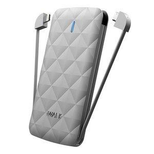 Внешний аккумулятор iWalk Duo 3000mAh серебристый