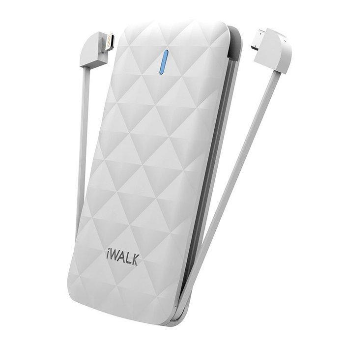Внешний аккумулятор iWalk Duo 3000mAh белый