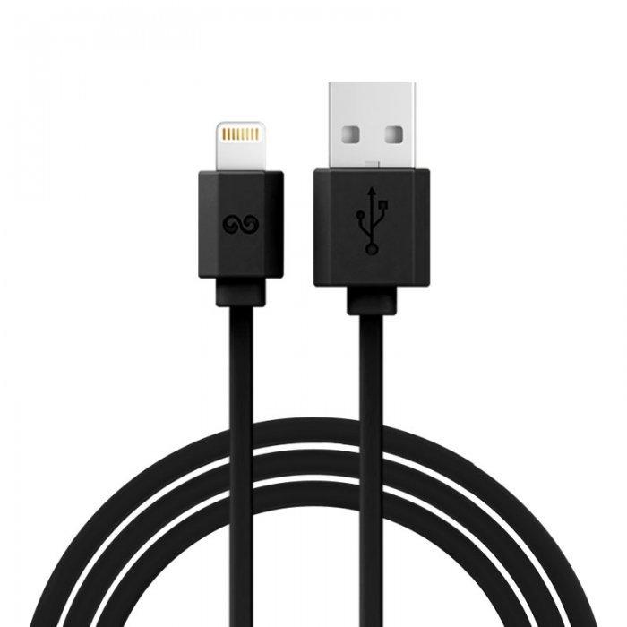 Lightning кабель iWalk Trione 2м, черный для iPhone/iPad/iPod