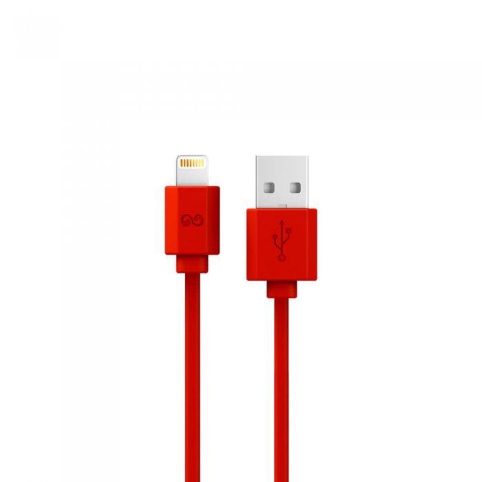 Кабель Lightning iWalk Trione 2м, красный для iPhone/iPad/iPod