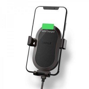 Беспроводное автомобильное зарядное устройство и держатель iWalk Lucanus Air черное