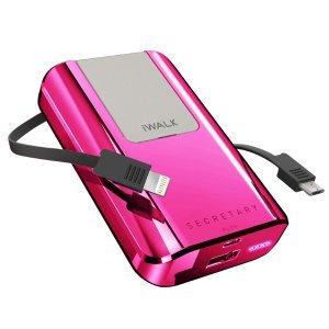 Внешний аккумулятор iWalk Secretary Plus 10,000mAh розовый