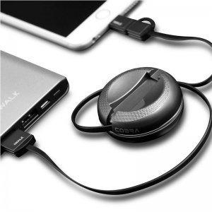Lightning + Micro-USB кабель iWalk Cobra черный
