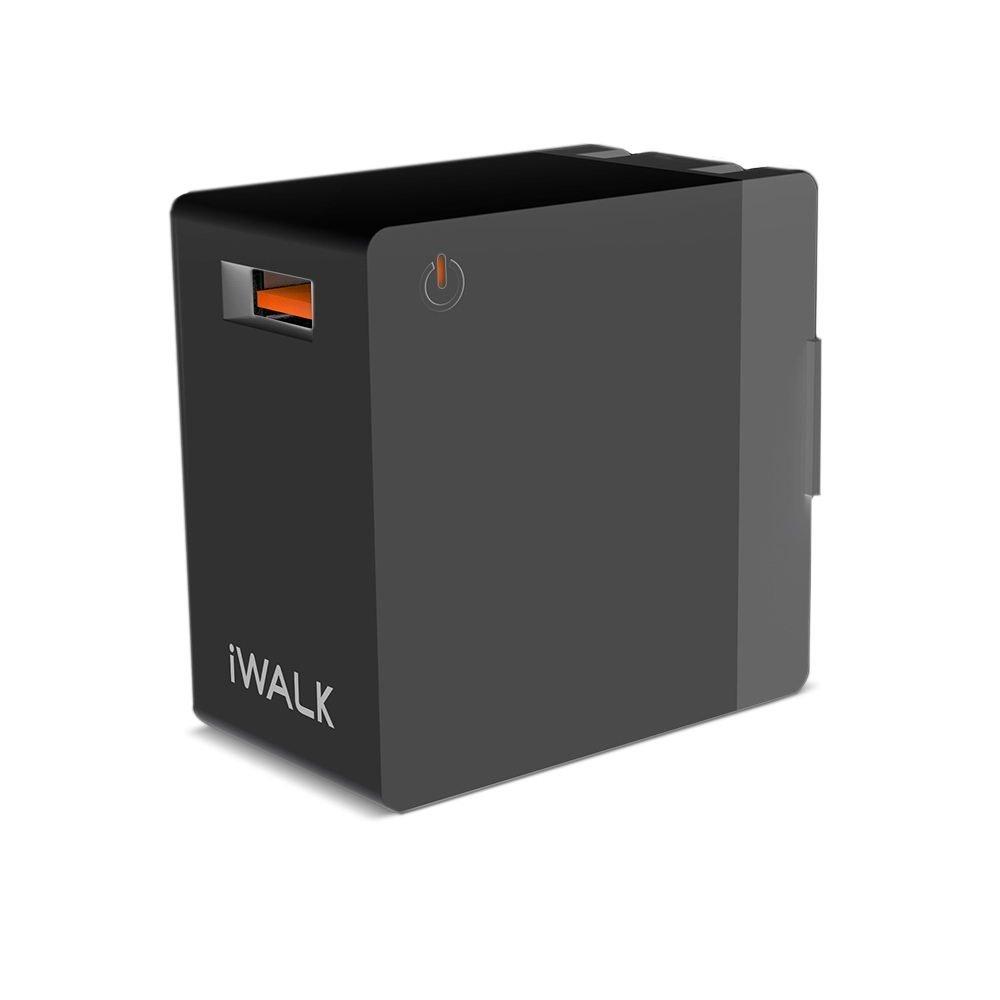 Сетевое зарядное устройство iWalk Leopard Quick Charge 3.0, 2А, чёрное