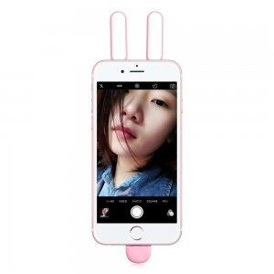 Фото/видео свет Baseus Selfie Light With Double Light розовый для iPhone