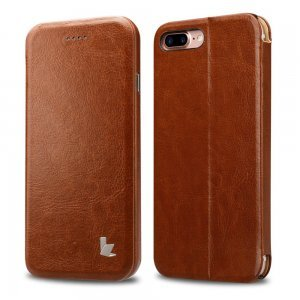 Чехол-книжка Jisoncase коричневый Stand Folio для iPhone 8 Plus/7 Plus