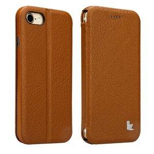 Чехол Jisoncase Genuin коричневый для iPhone 8 Plus/7 Plus