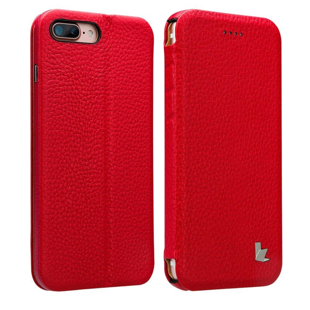 Чехол Jisoncase Genuin красный для iPhone 8 Plus/7 Plus