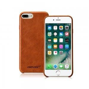 Кожаный чехол Jisoncase Vintage Genuine handmade коричневый для iPhone 8 Plus/7 Plus