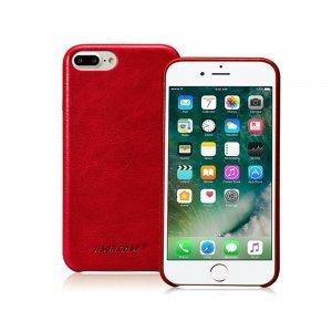 Кожаный чехол Jisoncase Vintage Genuine handmade красный для iPhone 8 Plus/7 Plus
