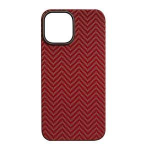 Чехол K-DOO Kevlar M Pattern красный для iPhone 12 Pro Max