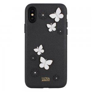 Кожаный чехол Luna Aristo Dale чёрный для iPhone X/XS