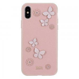 Кожаный чехол Luna Aristo Dale розовый для iPhone X/XS