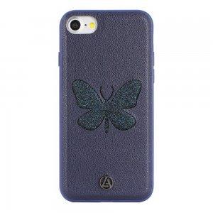 Чехол с рисунком Luna Aristo Farfalla Blue Copper синий для iPhone 7/8