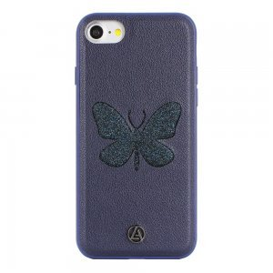 Чехол с рисунком Luna Aristo Farfalla Blue Copper синий для iPhone 7 Plus/8 Plus
