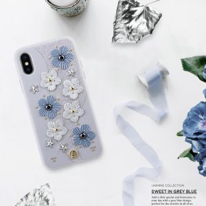 Чехол с рисунком Luna Aristo Jasmine синий для iPhone X/XS