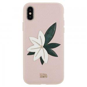 Кожаный чехол Luna Aristo Phyllis розовый для iPhone X/XS