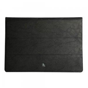 "Чехол-книжка для MacBook Air 12"" - Jisoncase leather stand черный"