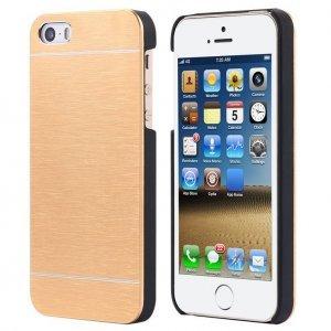 Металлический чехол Motomo золотой для iPhone 4/4S