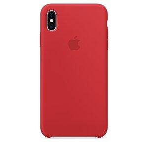 Силиконовый чехол красный для iPhone XS Max