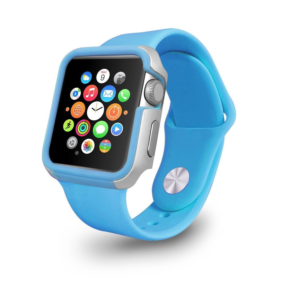 Чехол Ozaki O!coat-Shockband синий для Apple Watch 38мм